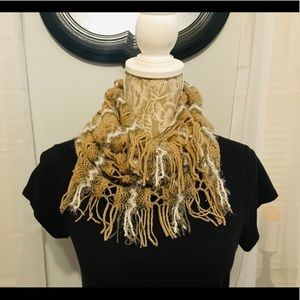 Accessories - Beige and Creme Infinity Scarf